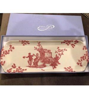 PHILIPPE DESHOULIERES Cake Dish Plate  Porcelain